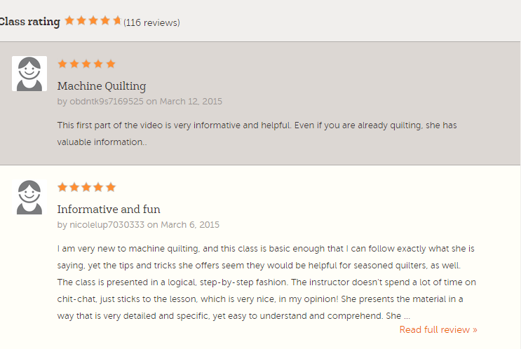 craftsy classes reviews
