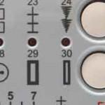 automatic buttonhole selector