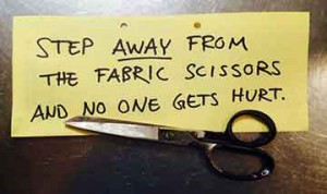 step away from scissors