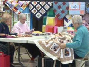 ladies quilting for charity