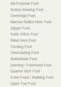 Singer s18 Studio Sewing Machine presser feet