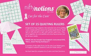Nifty notions quilting rulers