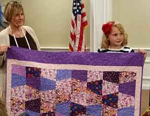 8yr old makes a quilt